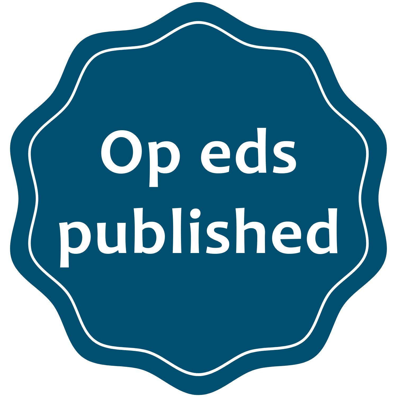 I write op-eds